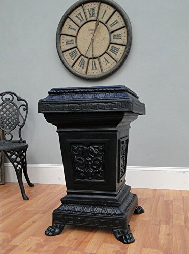 Streetscape Victorian TRASH CAN receptacle metal cast iron antique commercial garbage