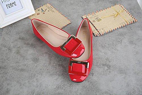 &qq Superficial zapatos boca profesional, zapatos planos, cómodos zapatos salvajes, zapatos casuales 39
