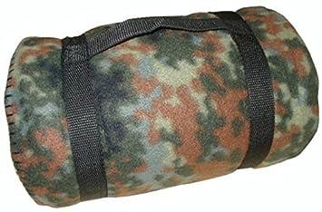 Commando Industries Couverture confortable 140x190cm de plafond de couverture de pique-nique moelleux de style d'armée dans différentes couleurs