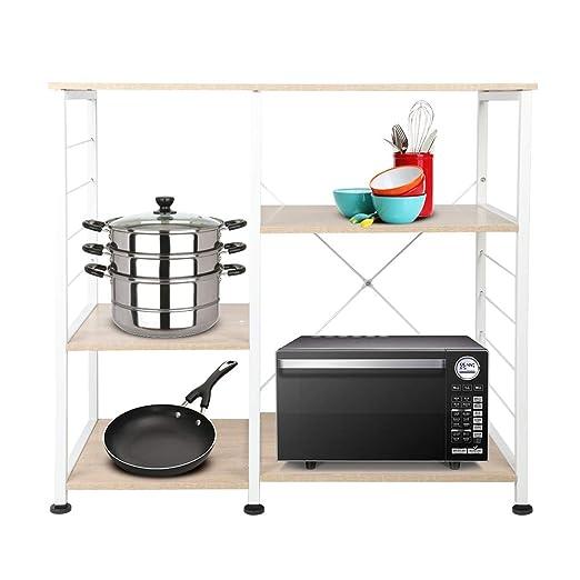 Práctica estantería de cocina, 3 capas, estantería para panaderos ...
