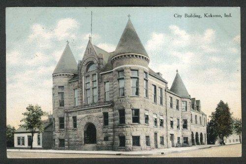 City Building Kokomo IN postcard 1911]()