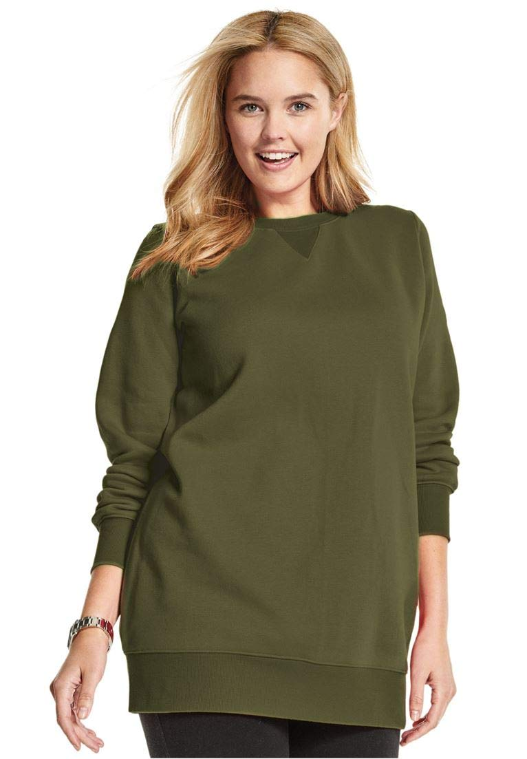 Woman Within Women's Plus Size Fleece Sweatshirt