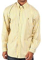 Ralph Lauren - Chemise rayée habillée - coupe classique - jaune/bleu/blanc - homme