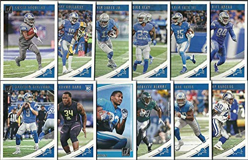 (2016,2017, 2018 Panini Donruss Football Detroit Lions 3 Team Set Lot Gift Pack 35 Cards W/Rookies )