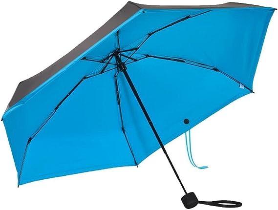 Meccion Paraguas de protección Solar Mini Viaje Anti-UV Sombrilla UPF 50+ Paraguas de Bolsillo Compacto Plegable de 6.7 Pulgadas de Largo: Amazon.es: Deportes y aire libre