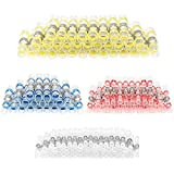 Haisstronica 80PCS Solder Seal Wire Connectors -Heat Shrink Butt connectors-Waterproof Electrical Insulated Automotive Terminals with Case(15WHITE,30RED,30BLUE,5YELLOW)