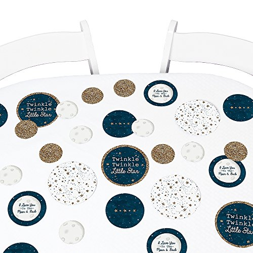 Big Dot of Happiness Twinkle Twinkle Little Star - Baby Shower or Birthday Party Giant Circle Confetti - Party Decorations - Large Confetti 27 Count