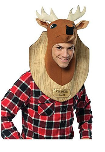 Rasta Imposta Trophy Head Deer, Brown, (Halloween Costumes Deer)