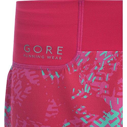 Gore Running Wear Damen Shorts, Sunlight Print, jazzy pink/Raspberry rose
