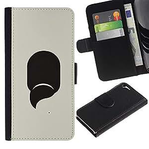 UberTech / Apple Iphone 5 / 5S / Abstract Mysterious Beige Minimalist / Cuero PU Delgado caso Billetera cubierta Shell Armor Funda Case Cover Wallet Credit Card