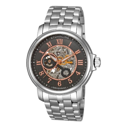 Stuhrling Original Men's 'Legacy' Automatic Stainless Steel Dress Watch, Color:Silver-Toned (Model: