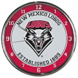 WinCraft NCAA New Mexico Lobos Chrome Clock