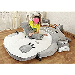 Norson My Neighbor Totoro Sleeping Bag Sofa Bed Twin Bed Double Bed Mattress for Kids Warm Cartoon Tatami Beanbag My Neighbor Totoro Sofa (Size 1:120CM * 80CM(47 *31in))