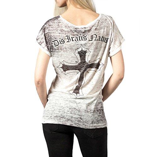 Dis Iratis Natus T-Shirt Damen Oversize Shirt ecru