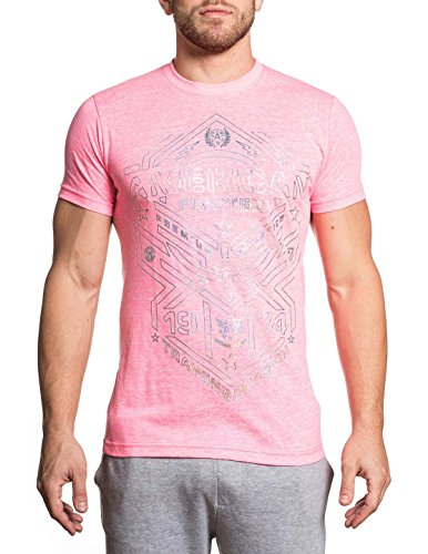 Pink Fighters (American Fighter Men's Kempton Tee Shirt Neon Pink X-Large)