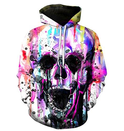 SWAG Hipster Unisex Pullover Harajuku Zombie Skull Punk Women Sweatshirt