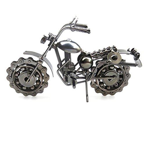 VORCOOL Vintage Iron Harley Davidson Motorcycle Model Retro Handicraft Collectible Iron Art Sculpture for Motorcycle Lover Home Desk Workplace Office Decoration (Grey) by VORCOOL