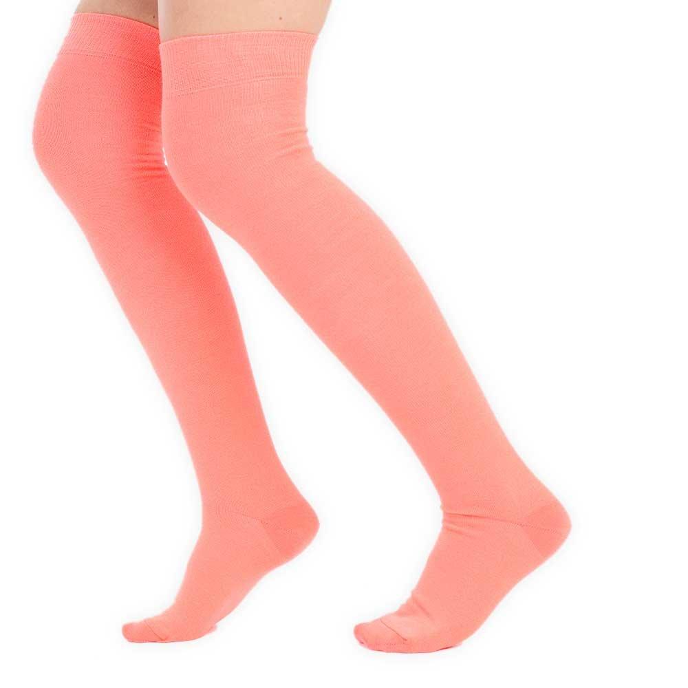 Womens Plain High Knee Socks Sizes UK 4-6.5 Fancy Dress Costume