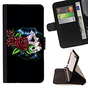 For Sony Xperia Z3 D6603 Punk Smoker Retro Style PU Leather Case Wallet Flip Stand Flap Closure Cover