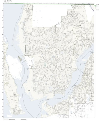 Amazon Com Zip Code Wall Map Of Cape Coral Fl Zip Code Map Not