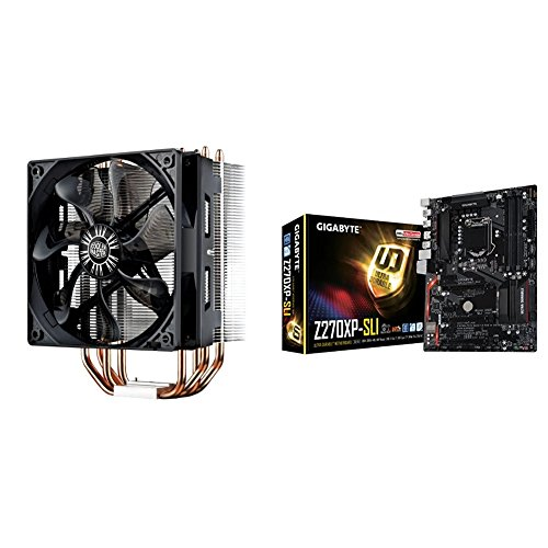 Cooler Master Hyper 212 EVO RR-212E-20PK-R2 CPU Cooler with 120mm PWM Fan and Gigabyte LGA 1151 Z170 2-Way SLI UEFI DualBIOS ATX DDR4 ATX DDR4 NA Motherboards GA-Z170XP-SLI