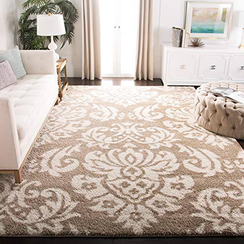 (Safavieh Florida Shag Collection SG460-1311 Beige and Cream Area Rug (4' x 6'))