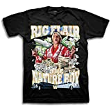 WWE Mens RIC Flair Shirt – The Nature Boy Wooooo! Superstar Tee – 16X World Wrestling Champion T-Shirt (Black/Silver, L)