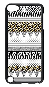 Brian114 Case, iPod Touch 5 Case, iPod Touch 5th Case Cover, Dream Animal Print Basic Retro Protective Hard PC Back Case for iPod Touch 5 ( Black )
