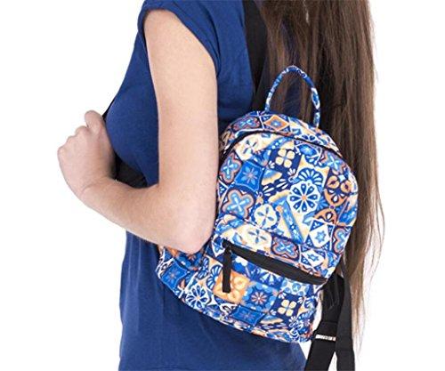 SHFANG Mini-Rucksack Oxford-Tuch 3D gedruckte doppelte Schulterbeutel Einkaufen im Freien tragen Mädchen Ein Geschenk von einem Kind 20 * 11 * 24cm