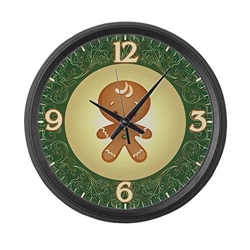 Large Wall Clock Chistmas Cuties Gingerbread Man