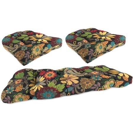 Jordan Manufacturing Outdoor 3-Piece Cushion Wicker Set, Gaya Pizzaz by Unknown