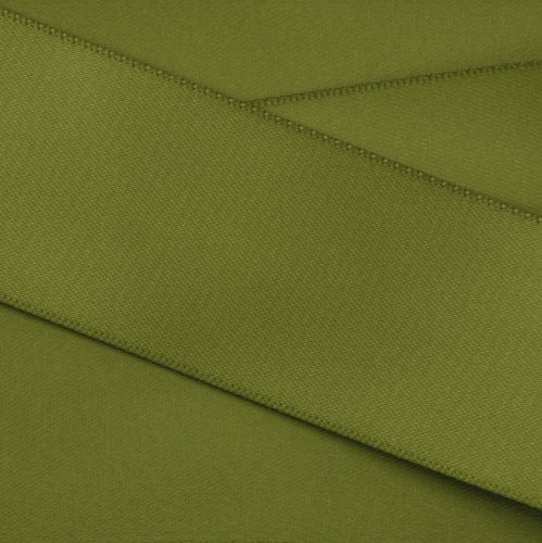 Kel-Toy Double Face Satin Ribbon, 1.5-Inch by 25-Yard, Olive Green