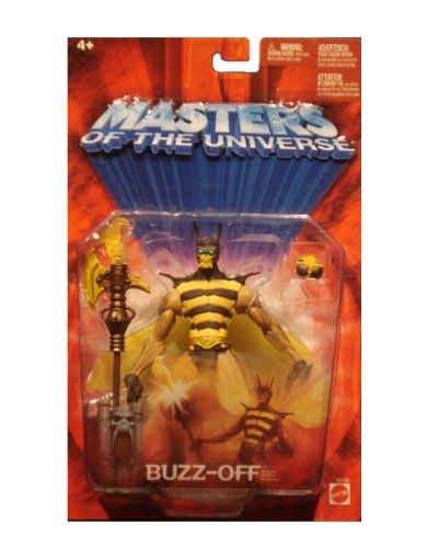 Masters of the Universe Buzz-Off Figure - Mattel MOTU Red Card