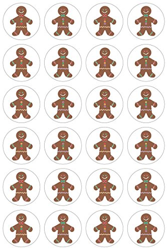 Hygloss Products Winter Christmas Gingerbread Man Stickers - 480 Sticker - 1 Inch, 20 Sheets]()