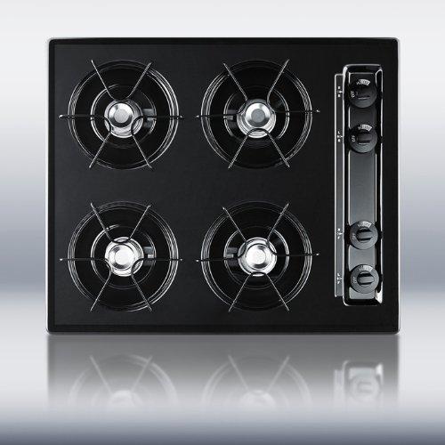 24 wide cooktop black