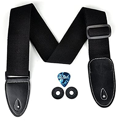 Guitar Straps,Top Grade Guitar Strap with Leather EndsconcisestyleAdjustment for Electric & Acoustic Guitar ,Bass