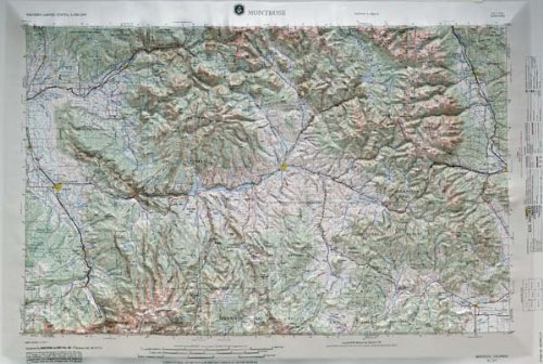 ised Relief Map in the state of Colorado with Black Plastic Frame (Colorado Raised Relief Map)