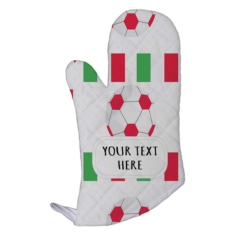 Style In Print Polyester Oven Mitt Custom Italy Country Flag Soccer Pattern Adults Kitchen Mittens