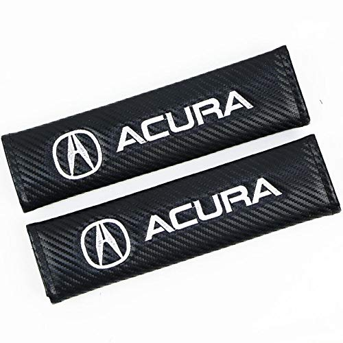 Bearfire Car Seat Belts Covers Padding Carbon Fiber Leather Belt Shoulder Sleeve (fit A)