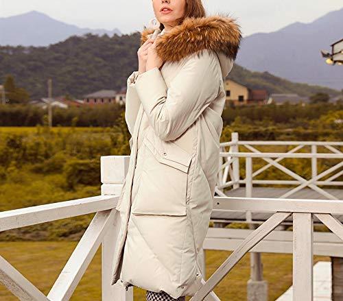 E Cappuccio Piumino Invernale nuovo Bianca Lungo Lungo Spesso Kby mm Con xIa4q5wYw
