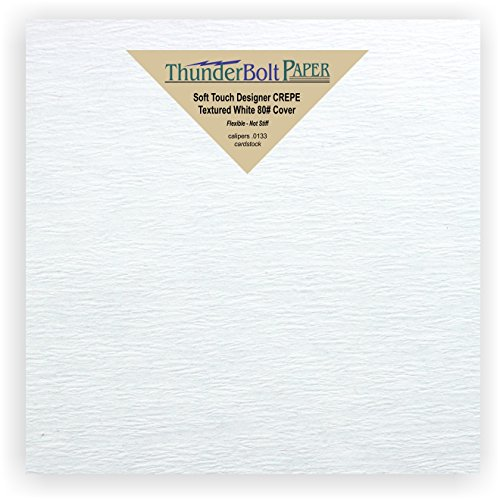 New Designer Scrapbook Album - 75 NEW Soft Touch Designer CREPE White Cover Paper 6 X 6 Inches, Thick 80lb Card Sheets - Premium Texture - Square Scrapbook Album Size - Quality Textured, Flexible - Plain Blank Cardstock