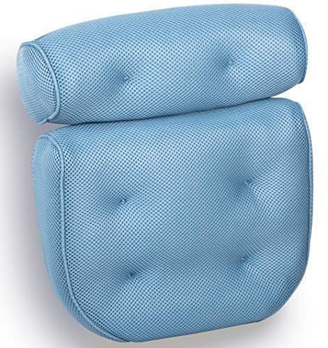 Royal Casa Bath Pillow. Non Slip, Luxury Bathtub Pillow For Your Head And Neck. Anti-Mold And Waterproof. This Spa Cushion has 6 Extra Large Suction Cups To Guarantee The Best Relaxing Experience ()