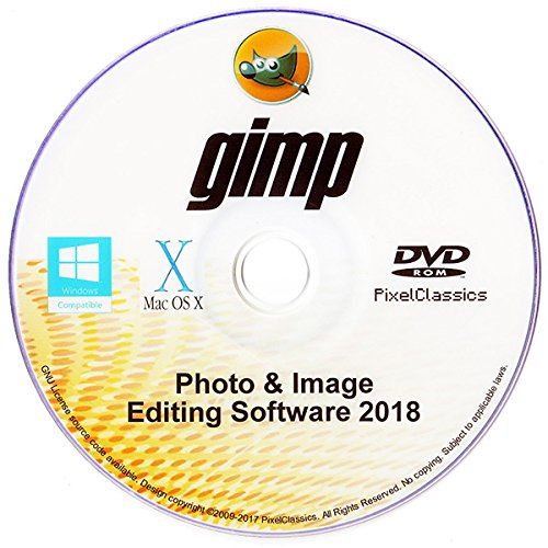 GIMP 2018 Photo Editor Premium Professional Image Editing Software for PC Windows 10 8.1 8 7 Vista XP, Mac OS X & Linux - Full Program & No Monthly Subscription! by PixelClassics