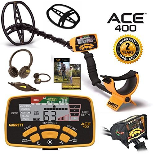 Great Features Of Garrett Ace 400 Metal Detector with Waterproof Coil Plus Free Accessories