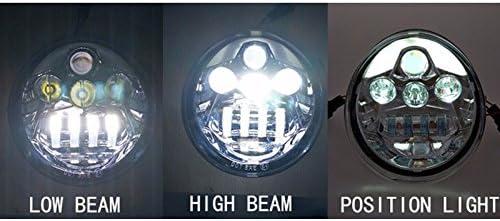 Black V rod VRSCA LED headlight Lamp V-Rod Muscle Headlight Daymake VRSCF LED HEADLIGHT