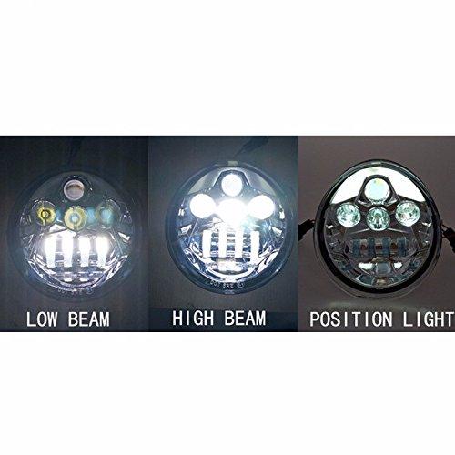 Fanale anteriore V LED Lampada VROD VRSCA VRSC Fanale anteriore VRSC//V-ROD FARO ANTERIORE LED cromato