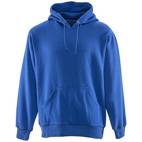 RefrigiWear Men's Thermal Lined Hoodie Royal Blue Warm Hooded Pullover Sweatshirt (Royal Blue, Large)