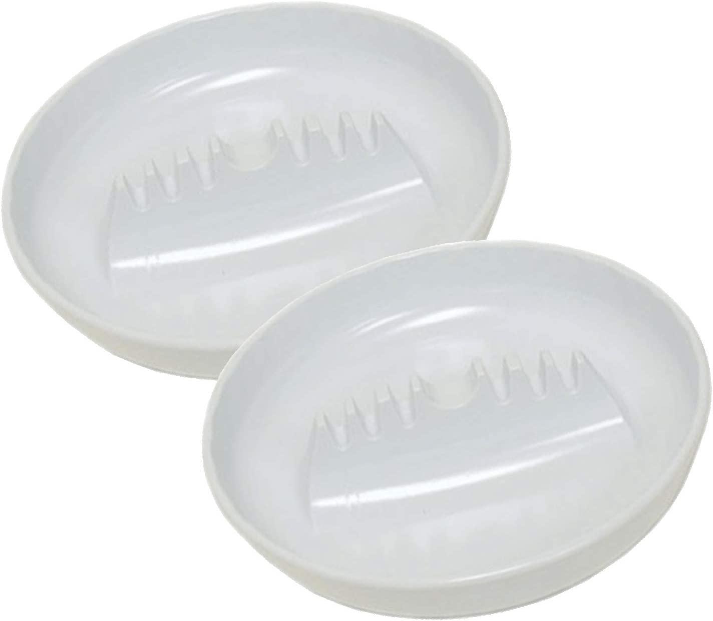 "Nitmoi Products White Plastic Ashtray Cigarette Cigar Home Office Patio Restaurant Large (2 Pack) 7"" Diameter 1.25"" Height Ashtray 6 Cigarette Rests 1 Cigar Rest Premium Quality Ashtray"