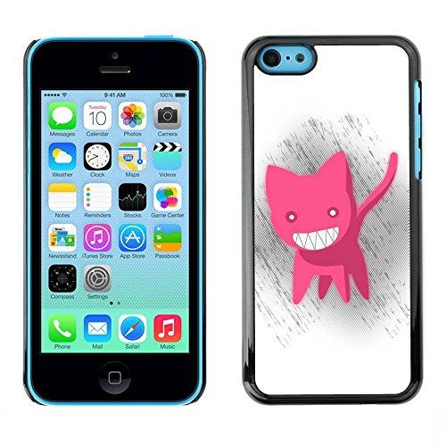 Housse Coque Étui de protection Anti-Scratch Effacer pour Apple Iphone 5C / Business Style Funny Cute Pink Cat