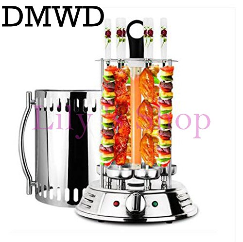 Automatic Rotisserie - DMWD Electric oven smokeless barbecue BBQ kebab rotary machine grill automatic rotation rotisserie Roast domestic lamb skewers (Type B)